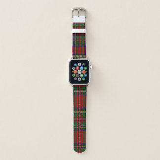 Rotes kariertes Entwurfs-Apple-Uhrenarmband Apple Watch Armband