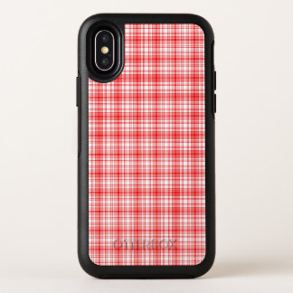 Rotes kariertes OtterBox symmetry iPhone x hülle