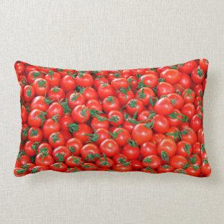 Rotes Kirschtomate-Muster Lendenkissen
