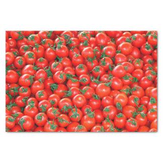 Rotes Kirschtomate-Muster Seidenpapier