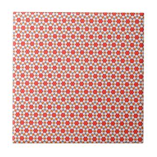 Rotes Kitsch-Blumenmuster Fliese
