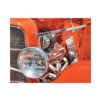 Rotes klassisches Auto Leinwanddruck