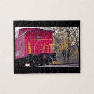 Rotes Kombüsen-Zug-Foto
