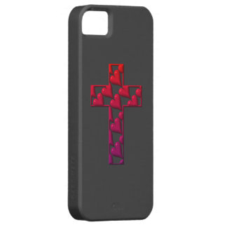 Rotes Kreuz gefüllt mit Herzen iPhone 5 Schutzhülle