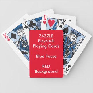 ROTES kundenspezifisches Bicycle® blaues Bicycle Spielkarten