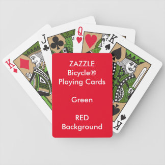 ROTES kundenspezifisches Bicycle® Grün-Spielkarten Bicycle Spielkarten