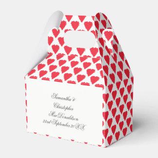 Rotes Liebeherzmuster Geschenkschachtel