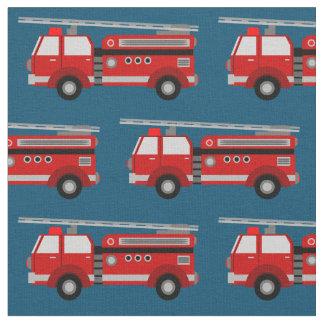 Rotes Löschfahrzeug-Blau-Gewebe Stoff