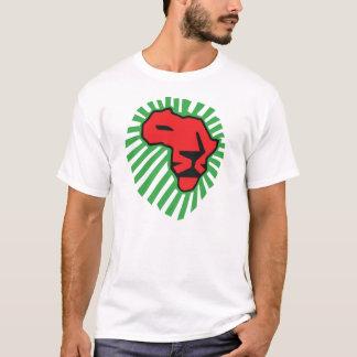 Rotes Löwe-Grün-Mähne Waka Waka Afrika Shirt