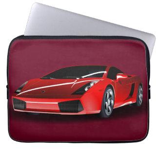Rotes luxuriöses Auto Computer Schutzhülle
