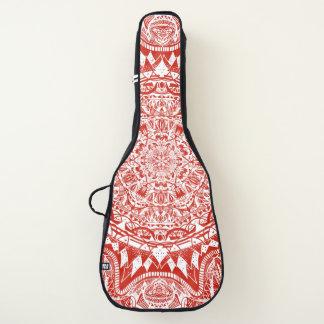 Rotes Mandalamuster Gitarrentasche