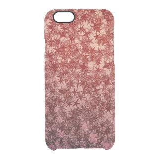 Rotes MetallNinja werfender Stern-metallischer Durchsichtige iPhone 6/6S Hülle