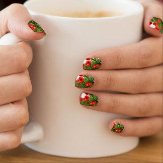 Rotes Mohnblumen-Foto-Nagel-Siegel Minx Nagelkunst