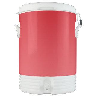 Rotes Ombre Igloo Getränke Kühlbox