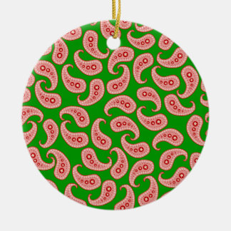 Rotes Paisley Keramik Ornament