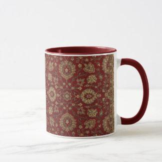 Rotes persisches Scharlachrot Arabesketapisserie Tasse