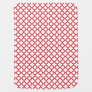 Rotes Quatrefoil Muster Kinderwagendecke