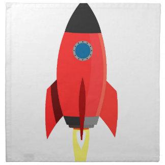 Rotes Rocket starten weg Serviette