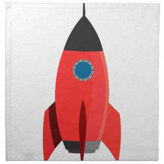 Rotes Rocket Stoffserviette