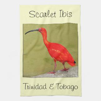 Rotes Scharlachrot Trinidad und Tobagos IBIS Küchenhandtücher