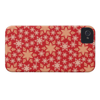 Rotes Schneeflocke-BlackBerry-mutige iPhone 4 Case-Mate Hülle