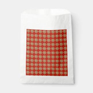 Rotes Schneeflocke-Muster Geschenktütchen