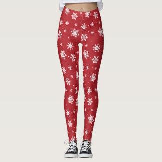 Rotes Schneeflocke-WeihnachtenLegging hässliches Leggings
