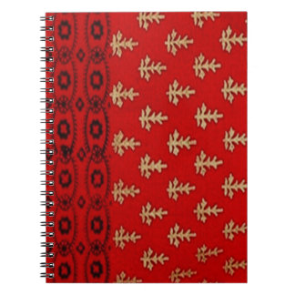 Rotes Schwarz-und Goldentwurfs-Foto-Notizbuch Spiral Notizblock