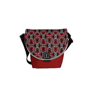 Rotes Schwarzes - abstrakte entworfene Bote-Tasche Kuriertaschen