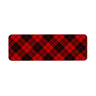 Rotes schwarzes kariertes Brodie Clan Tartan