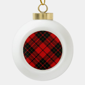 Rotes schwarzes kariertes Brodie Clan Tartan Keramik Kugel-Ornament