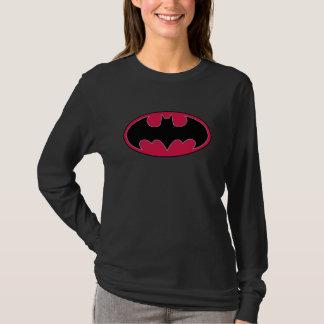 Rotes schwarzes Logo Batman-Symbol-| T-Shirt