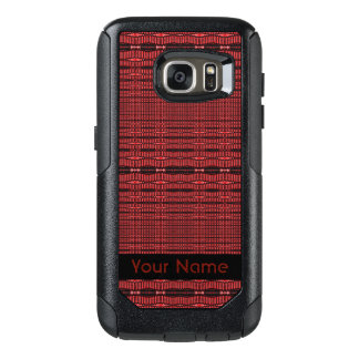 Rotes schwarzes modernes Muster OtterBox Samsung Galaxy S7 Hülle