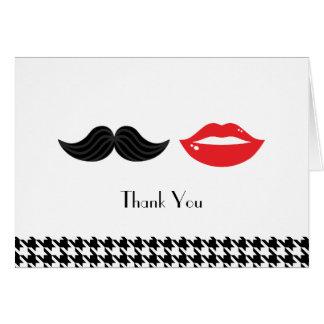 Rotes, schwarzes u. weißes Schnurrbart-u. Karte