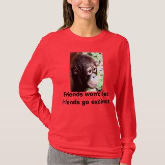Rotes Shirt für rote Affen