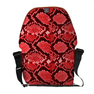 Rotes Snakeskin Kuriertaschen