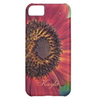 Rotes Sonnenblume iPhone 5c Fall *personalize* iPhone 5C Hülle