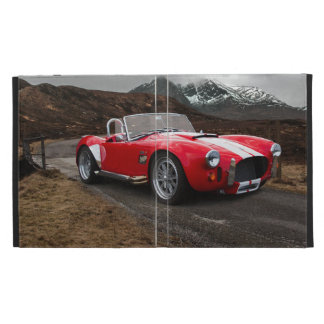 Rotes Sport-Auto Caseable iPad Folio