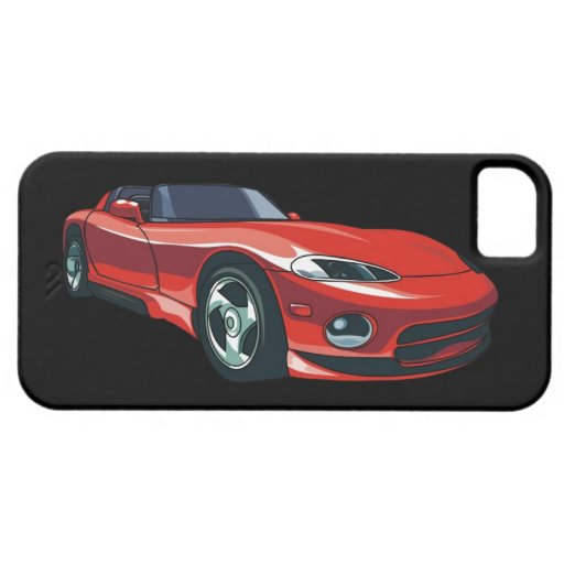 Rotes Sport-Auto iPhone 5 Case