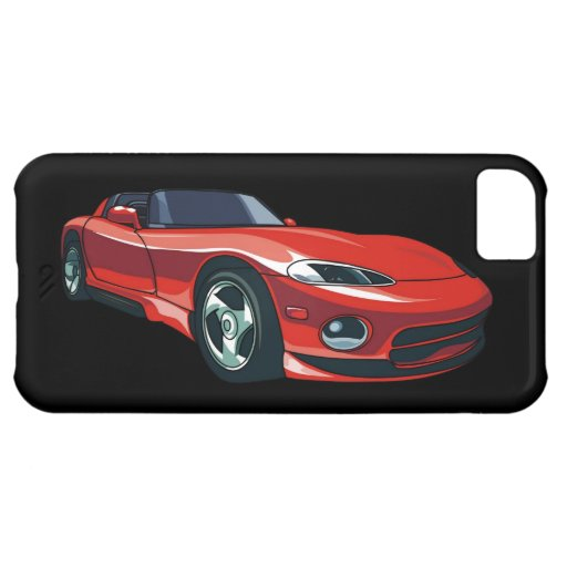 Rotes Sport-Auto iPhone 5C Hüllen