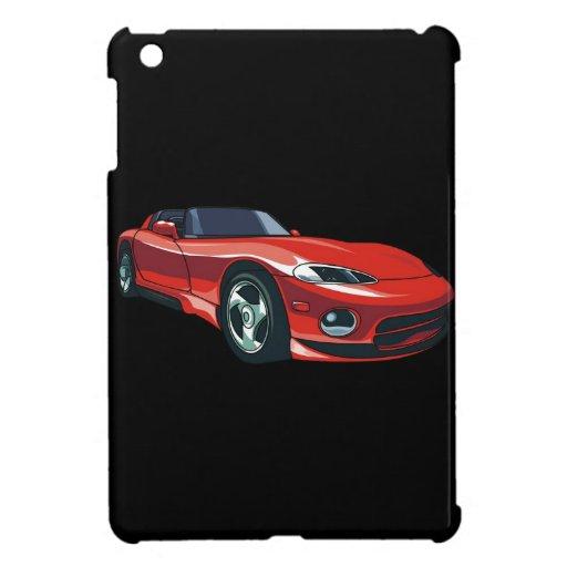 Rotes Sport-Auto iPad Mini Etuis