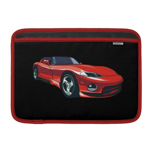 Rotes Sport-Auto MacBook Sleeves