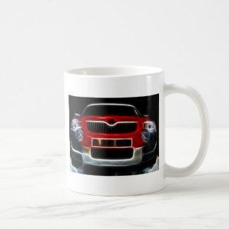 Rotes Sport-Auto Tasse