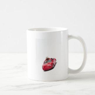 rotes Sportauto mit einem Diamantring Tasse