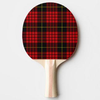 Rotes Tartan-Klingeln Pong Paddel Tischtennis Schläger