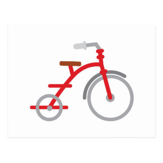 Rotes Trike Postkarte