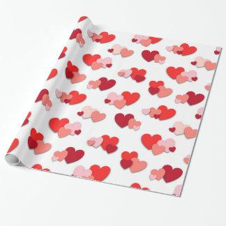Rotes u. rosa Valentinsgruß-Herz-Packpapier Geschenkpapier
