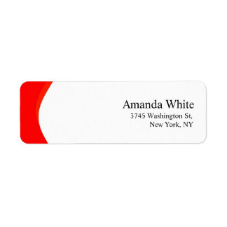 Rotes u. weißes einfaches elegantes unbedeutendes rücksendeetikett