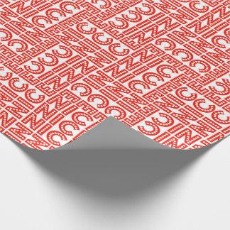 Rotes u. weißes Nizza Weihnachten Geschenkpapierrolle