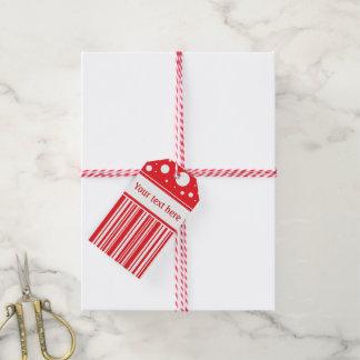 Rotes u. weißes Weihnachten Geschenkanhänger